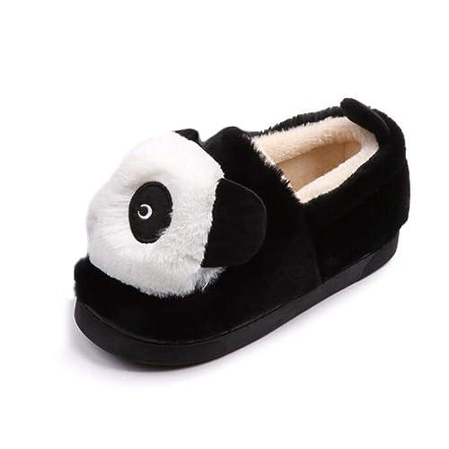 Pisos De Mujer Botas De Nieve De Piel CáLida Suave Y Encantador Panda Invierno Zapatos De AlgodóN ResbalóN En Los Zapatos De Los Mocasines: Amazon.es: ...