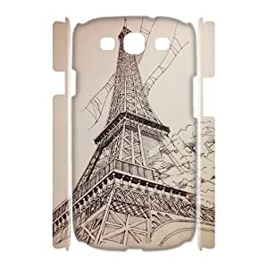 Customized Phone Case with Hard Shell Protection for Samsung Galaxy S3 I9300 3D case with The Eiffel Tower lxa#927147