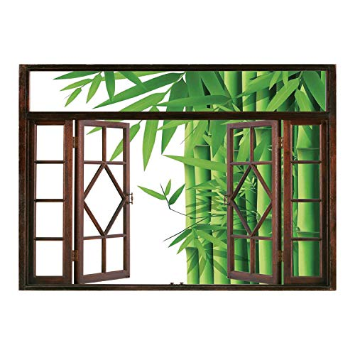 Cheap  SCOCICI Wall Mural, Removable Sticker, Home Décor/Bamboo,Modern Illustration of Fresh Bamboo Stems..