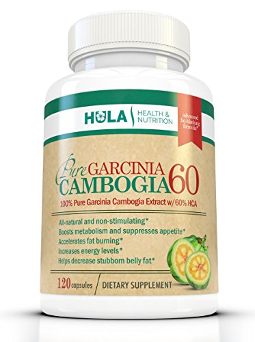 Garcinia Cambogia: 120 Capsules of 100% Pure Extract w/ Recommended 60% HCA (Hydroxycitric Acid) for extended use. Full Month's Supply of 2,000mg Per Day. Natural Weight Loss Management that Works!