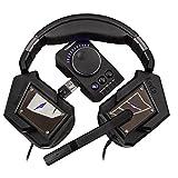 Electronics : Tesoro Kuven Pro A1 5.1 True 5.1 Virtual 7.1 Noise Suppression Tabletop controller USB Mic Microphone LED illumination Gaming Headset TS-A1 5.1 Pro