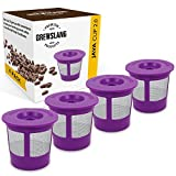 Refillable/Reusable Coffee Filter ''4 Pack'' for Keurig 2.0: K200, K225, K250, K300, K325, K350, K400, K425, K450, K500, K525, K550, K600, K650, K675 and 1.0 Single Cup Brewer by Brewslang
