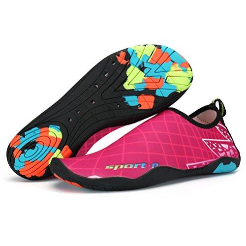 ASLISA Mens Womens Water Shoes Swim Shoes Aqua Socks Beach Shoes Yoga Socks Slip-On With Drainage - Mall Mays Landing