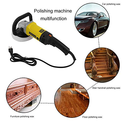 6 Variable Speed Electric Car Polisher Protable Polishing Machine with Carry Box 600-3100RPM