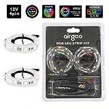 Airgoo Computer Magnetic LED Strip - Super Bright 2pcs Magnetic RGB LED Strip Light for ASUS AURA RGB / MSI Mystic Light / ASROCK AURA RGB Motherboard (12V 4-Pin RGB LED headers ONLY)