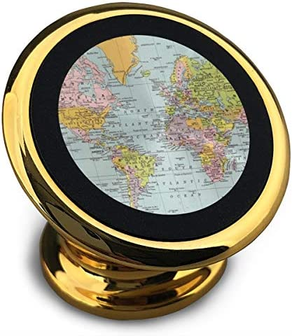 世界地図 携帯電話ホルダー おしゃれ 車載ホルダー 人気 磁気ホルダー 大きな吸引力 サポートフレーム 落下防止 360度回転