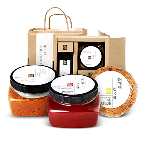 [Yoon Ji Young]Korean Sauce Premium Trio Set/Made with 100% Korean Ingredients/Gift/Korean Food/고추장/된장/간장