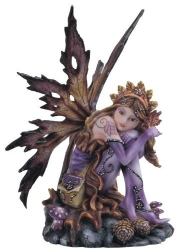 George S. Chen Imports Purple Fairy Sitting Collectible Figurine Decoration Statue Décor