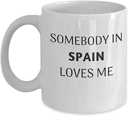 España Regalo Taza de café Distancia Distancia Amigo País Viaje Presente: Amazon.es: Hogar
