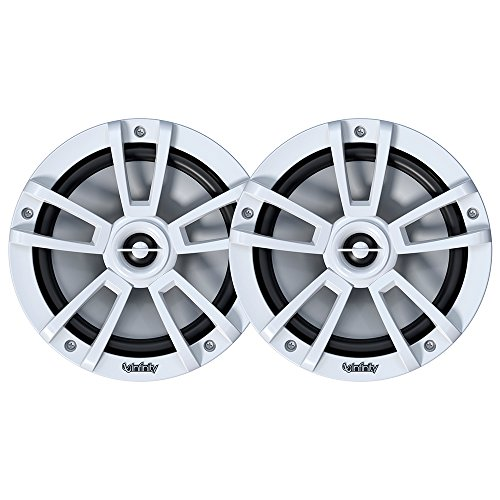 - Infinity 822MLW Marine 8 Inch RGB LED Coaxial Speakers - White