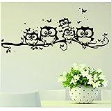 Wall Stickers, Franterd Kids Vinyl Art Cartoon Owl Butterfly Decor Home Decal Picture