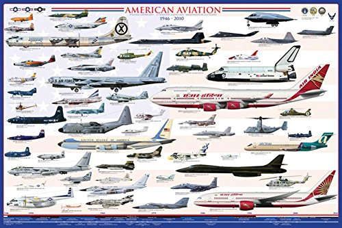 American Aviation - Modern Era  Poster 36 x 24in