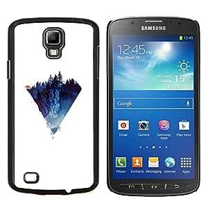TECHCASE---Cubierta de la caja de protección para la piel dura ** Samsung Galaxy S4 Active i9295 ** --Polígono Montaña