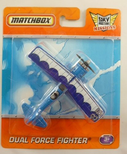 10cm Matchbox Sky Busters Missions - DUAL FORCE FIGHTER Plane (HL157D) (Busters Sky)