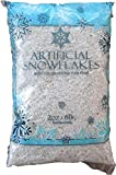 Snow Artificial Flakes 2 Oz Bag Blue Printed Polybag 6 Pack
