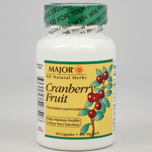 [CRANBERRY FRUIT 405MG CAPS CRANBERRY EXTRACT-405 MG Redish Brown 60 CAPS NDC 00904-5527-52] (Fruit Extract 60 Caps)