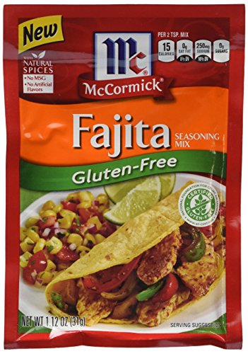McCormick Gluten Free Fajitas Seasoning, No MSG Seasoning, 1.12 oz (Case of 12)
