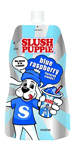 Slush Puppie Pouches--Blue Rasberry--Fruit Flavored Ice Slushie Flavor Pops Frozen Treat Pouch--8 fl. oz. 12 Piece