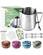 Yodeace Candle Making Kit, Candle Making Supplies with Candle Make Pouring Pot, Melting Pot Spoon, Candle Wicks, Candle Wicks Sticker and Candle Wick Centering Device for Beginners Professionals