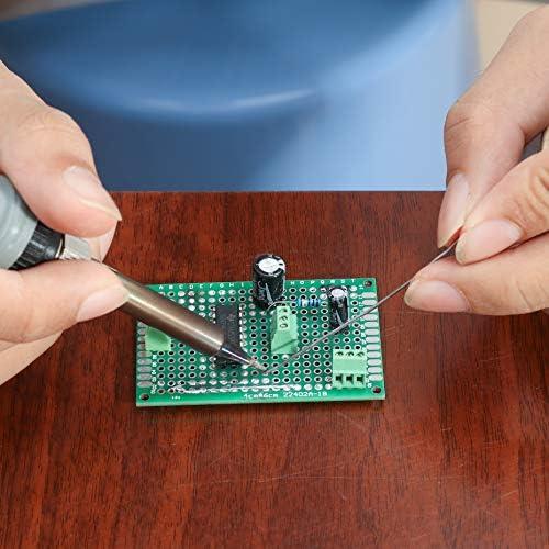 20 connecteurs /à broches m/âles et femelles Perfor/és 12 bornes Lot de 60 circuits imprim/és DEYUE 28 circuits double-face pour le prototypage Pour le bricolage