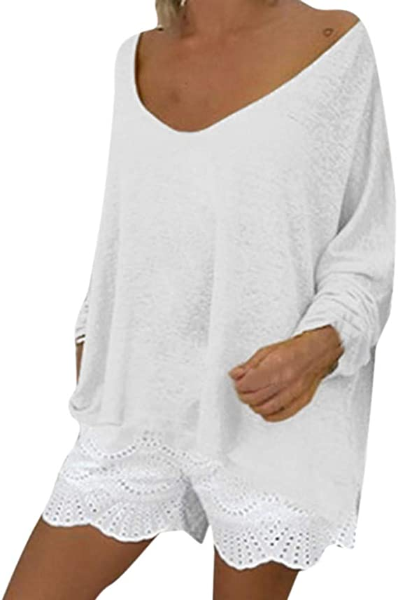 Jaysis T-shirt Femme Chic Grand Taille Ample