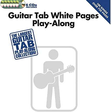 Guitar Tab White Pages Play-Along. Partituras, 6 x CD para Acorde de Guitarra, Guitarra: Amazon.es: Instrumentos musicales