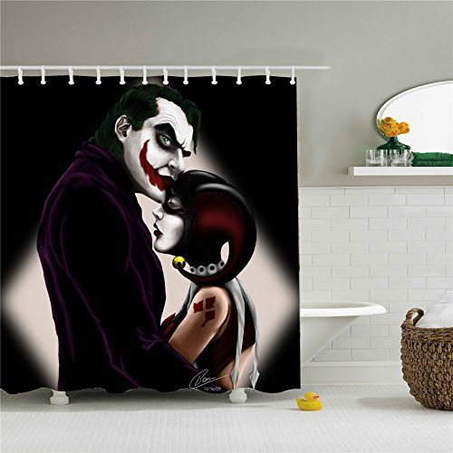 Art Jokers Shower Curtains,Polyester Waterproof Shower Curtains 12 Hooks Included-60