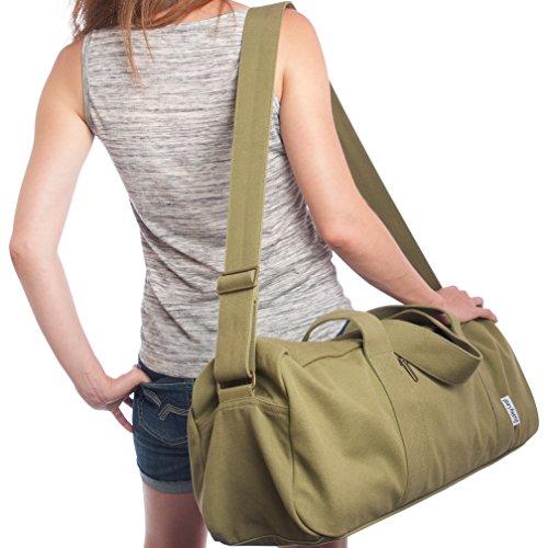 Dusky Leaf BIG Yoga Bag - Green