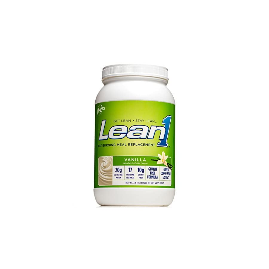 Nutrition 53 Lean1 Vanilla Lactose Free Protein Powder, 23 Count, 3.31 Pound