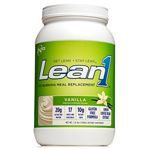 Nutrition 53 Lean 1 Vanilla, Lactose Free Protein Powder, 23 Serving Tub 2.6 lbs