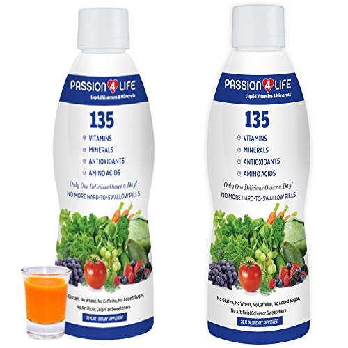 Liquid Vitamins and Minerals Supplement for Men, Women, Seniors, and Adults by Passion 4 Life | No Gluten, Non-GMO Liquid Multivitamin Safe for Children and After Bariatric Surgery (2)