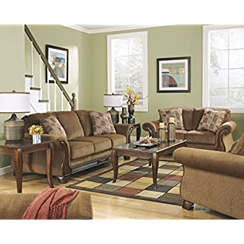 Ashley Furniture Signature Design - Montgomery Sleeper Sofa with 2 Accent Pillows - Queen Mattress - Traditional - Mocha