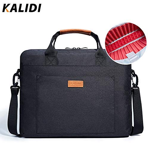 KALIDI Laptop Bag, 14 Inch Laptop Briefcase 13.5 inches Messenger Bag for MacBook 2018 MacBook Air Dell Alienware/Lenovo/HP Travelling Business College and Office (Black)