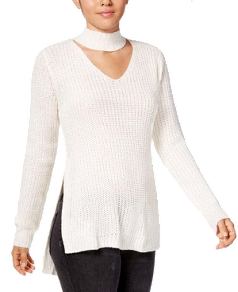 Planet Gold Juniors' Cutout Turtleneck Sweater