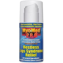 Best Restless Leg Syndrome Relief Cream by Myomed P.R.O. 3.5 oz. Professional Strength RLS Treatment & leg cramp relief will stop your symptoms fast. Finally, a restful legs remedy that works.
