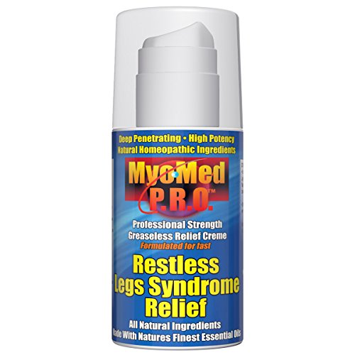 Best Restless Leg Syndrome Relief Cream by Myomed P.R.O. 3.5 oz. Professional Strength RLS Treatment & leg cramp relief will stop your symptoms fast. Finally, a restful legs remedy that works. - Restless Leg Cream