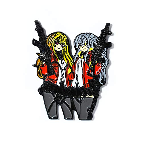 Enamel Mango (Anime Gun Girl Twins Manga Hat & Bag Pendant Lapel Hat Pin)