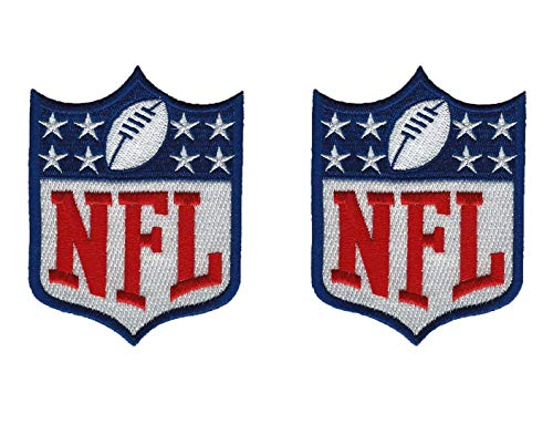 Lot of 2 National Football League NFL New Logo Iron on Jersey Patches 3.5""