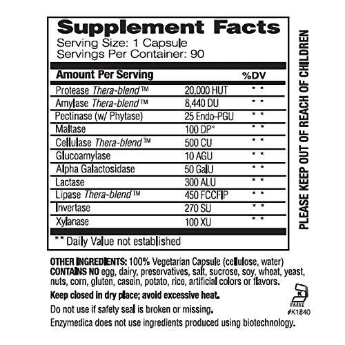 Compendio Básico, Esencial Fórmula Enzyme, 90 Cápsulas ...