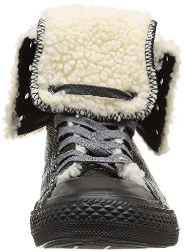 de cuero Negro Deporte mujer de Hi Ctas Zapatillas 8 Converse Knee noir 0nIpfXq