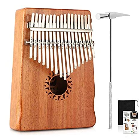17 Key Kalimba Mahogany Thumb Piano Finger Mbira Reindeer Kalimba Music Instrument Bag Xmas Gift Shoes