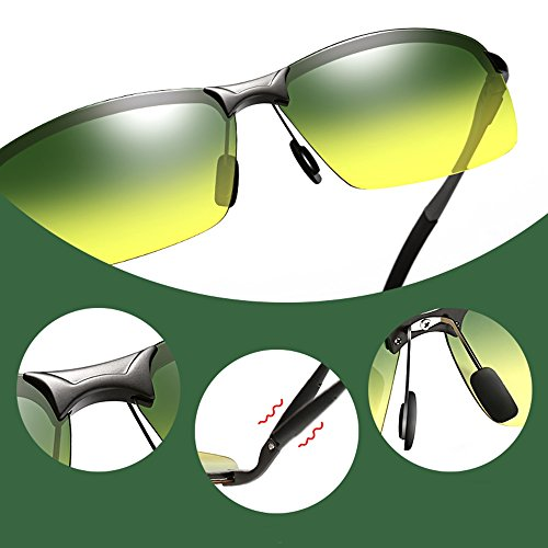SSSX hombre UV400 visera de sol sol sol sol de Gafas Gafas 100 conducir Gafas de B sol para Color con Gafas para Gafas A Aviator de de polarizadas rOBqHrI