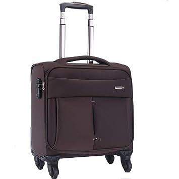 Maleta con maleta para equipaje de mano, compartimento para computadora portátil Maleta para viaje,