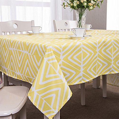 Awesome ColorBird Modern Style Washable Diamond Shaped Geometric Print Pattern  Rectangle Polyester Tablecloth Fashion Table Cover (55u0027u0027×70u0027u0027, Yellow And  White)