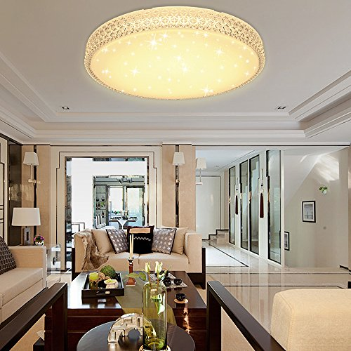 VINGO® Beautiful LED 60W Round Warm White (2700K-3000K) Modern ...