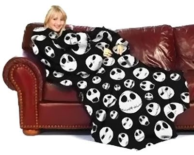 Nightmare Before Christmas Blanket with Sleeves - Fleece Comfy (Halloween Nights North West)