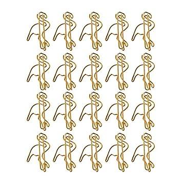 gold Westeng 12 St/ück Metall B/üroklammern Deko B/üroklammern Pfeil Motiv Aktenklammer Heftklammer f/ür Lesezeichen B/üro Schule Notebook