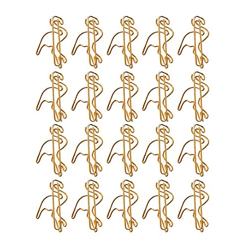 MoGist Golden Flamingo Paperclip Paper Clip Bookmark Binding