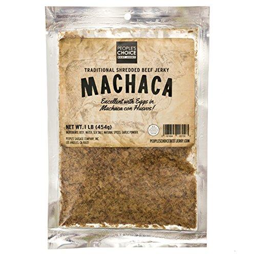Peoples Choice Beef Jerky - Carne Seca - Machaca - Jerky Chew - Shredded Beef Jerky - Sugar-Free, Carb-Free, Keto-Friendly - 1 Pound Bag