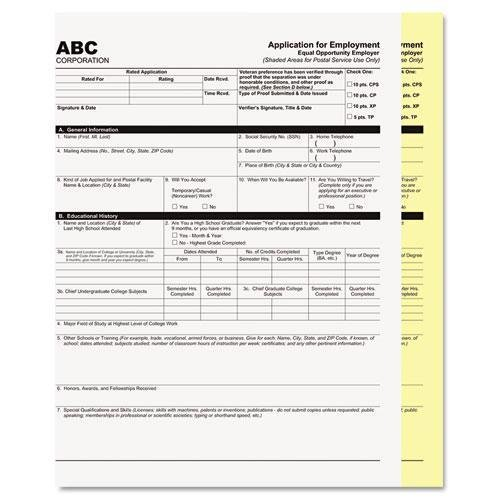 PM COMPANY, Digital Carbonless Paper, 8-1/2 x 11, Two-Part Collated, White/Canary, 2500 Sets